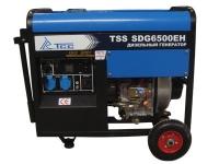 Дизель генератор TSS SDG 6500 EH (электростарт, ручки, колеса)